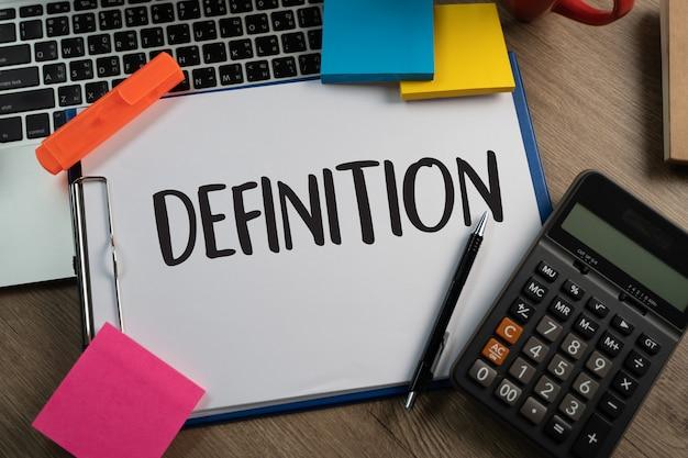 Definition business team hände bei der arbeit