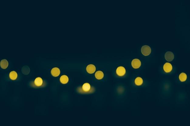 Defocused bokeh lichter in der nacht