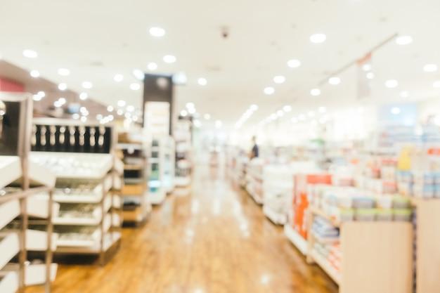 Defocused einkaufszentrum der abstrakten unschärfe
