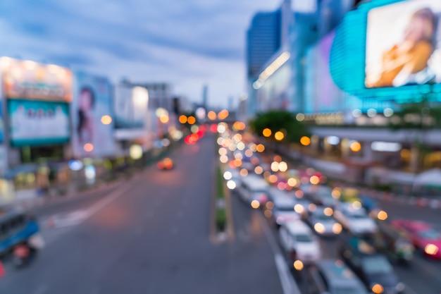 Defocused unschärfe in der bangkok-stadt in thailand