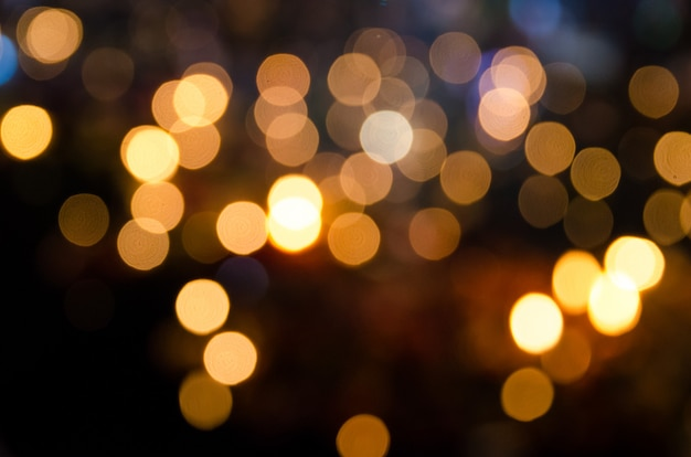 Defokussiert von lampenlicht