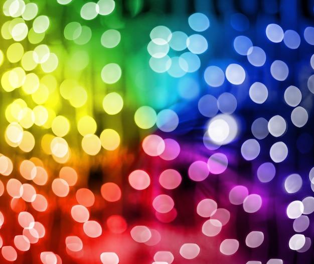 Defokussierte mehrfarbige weihnachtslichter, ideal für hintergründe