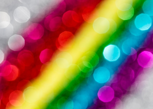 Defokussierter, schillernder regenbogenglitter