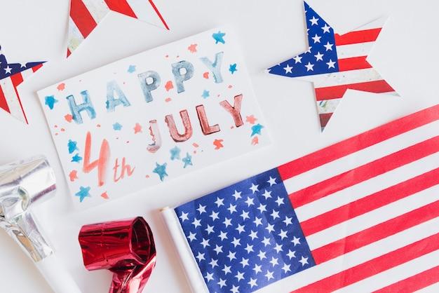 Dekor zum feiern am 4. juli
