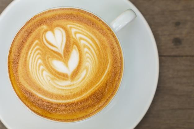 Dekoration aroma blend latte becher