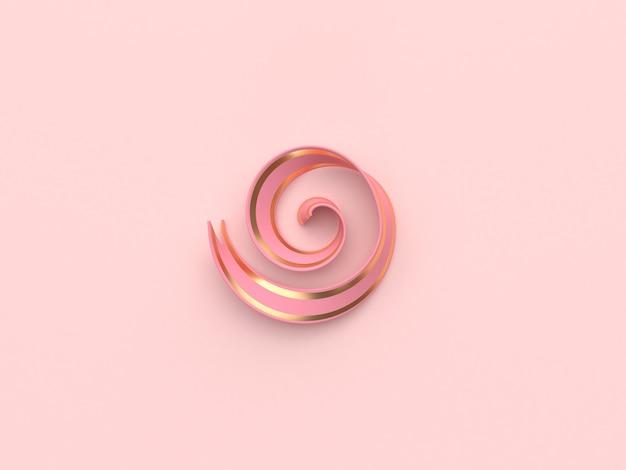 Dekoration. farbband 3d, das rosafarbenes gold überträgt