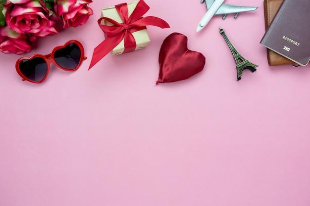 Dekoration valentinstag hintergrund.