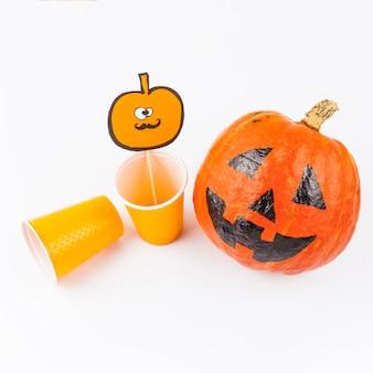 Dekorationen für halloween vorbereitet