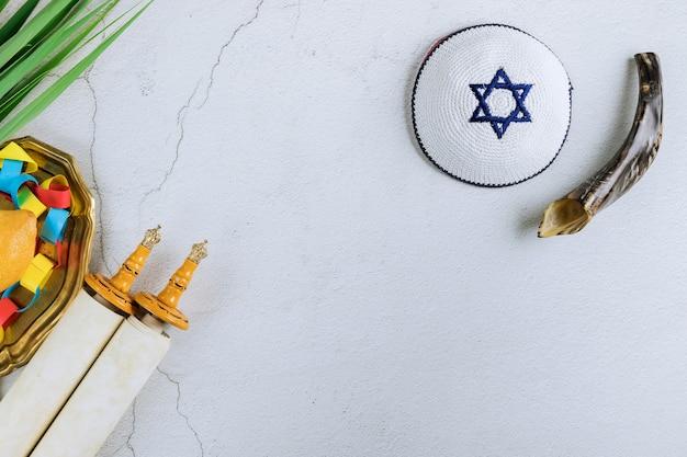 Dekorationen jüdische feiertagsfeier von sukkot