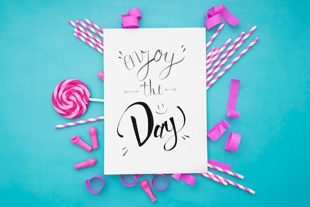 Dekorative feier konzept mit papier