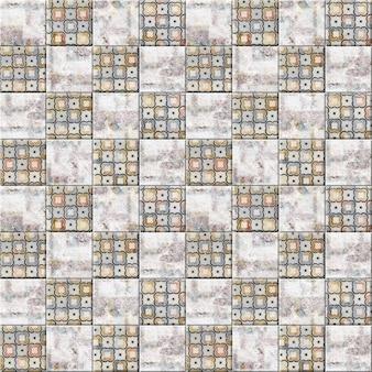 Dekorative keramikfliesen mit blendung und natursteinstruktur. nahtloses element für die innenausstattung. hintergrundbeschaffenheit