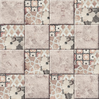 Dekorative keramikfliesen mit einem muster und einer textur aus natürlichem marmor. element für die innenausstattung. nahtlose hintergrundbeschaffenheit