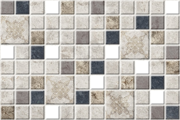 Dekorative keramikfliesen mit natursteinstruktur. marmormosaik-hintergrundbeschaffenheit