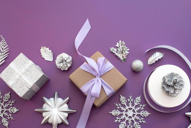Dekorative komposition für die dekoration von weihnachten.