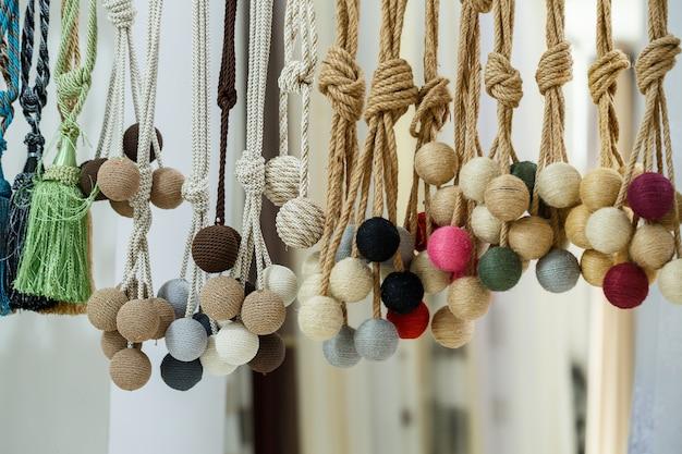 Dekorative krawatten aus textilien für gardinen gardinen