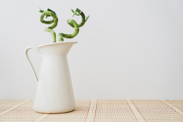 Dekorative vase mit bambus