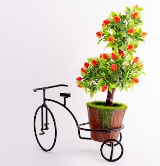 Dekorativer baum und ein fahrrad topflappen