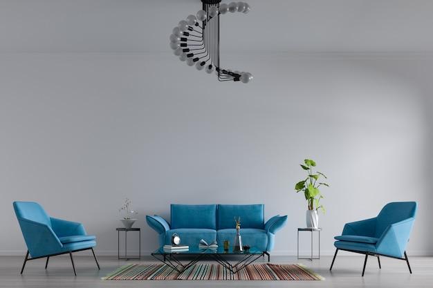 Dekorativer hintergrund für haus, büro und hotel. modernes wohnzimmer-innendesign und fokus auf innendetails.