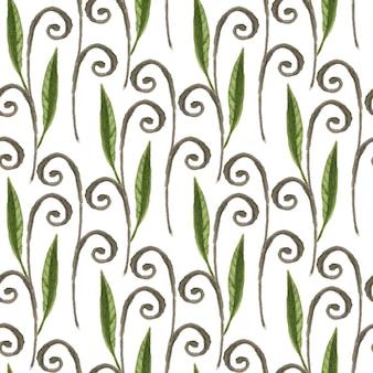 Dekoratives nahtloses muster des blattaquarells. kann für die verpackung und verpackungsgestaltung verwendet werden