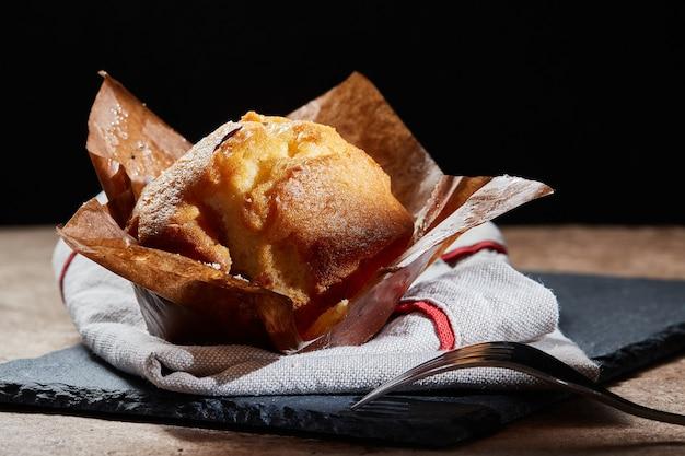Delicioso muffin de vainilla