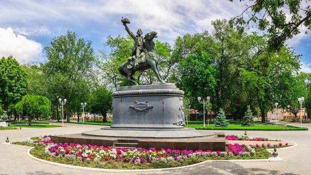 Denkmal für alexander suworow in izmail, ukraine