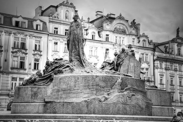 Denkmal von jan hus in prag.
