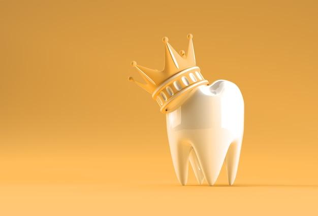 Dental king-modell des prämolarenzahns 3d-rendering.