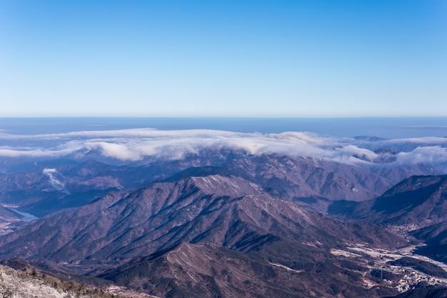 Deokyu-mountain scenic area in korea