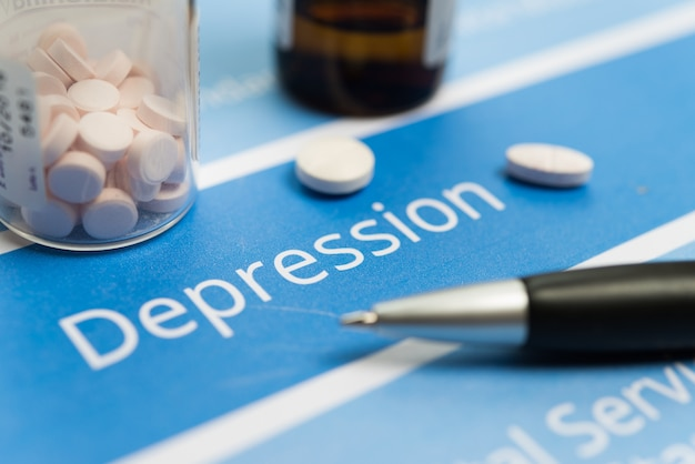 Depressionsbezogene dokumente und drogen