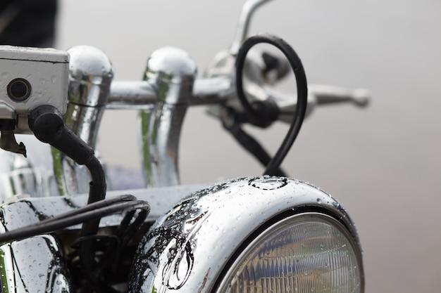 Der abschluss oben des motorradrades