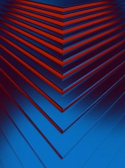 Der abstrakte blaue metallmusterhintergrund. 3d-illustration.