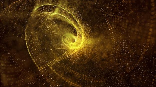 Der abstrakte hintergrund des festlichen glitzerweinlampenlichts, hell und leuchtend der gelben und goldenen farbe kann für feier verwendet werden