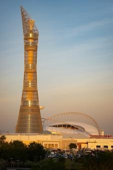 Der aspire tower in doha, katar