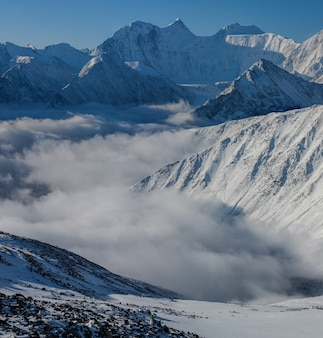 Der belukha-berg ist der höchste punkt des altai-gebirges