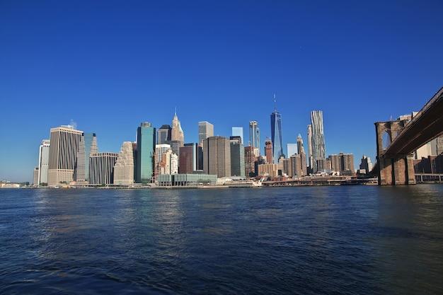 Der blick auf die innenstadt in new york der vereinigten staaten