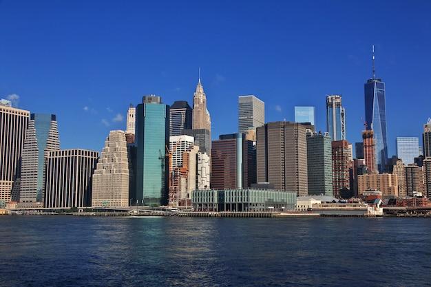 Der blick auf die innenstadt, new york, usa