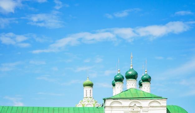 Der blick auf die orthodoxe kirche