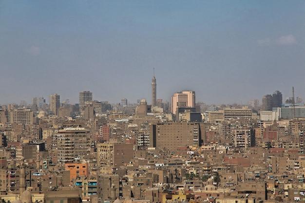 Der blick auf kairo zentrum ägypten