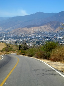 Der blick auf san cristobal de las casas, mexiko