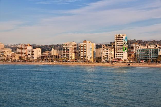 Der blick auf sidon (sayda), libanon