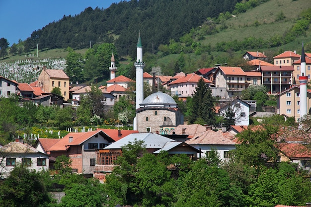 Der blick auf travnik, bosnien und herzegowina
