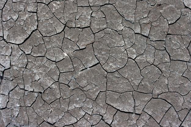 Der boden ist trocken und aufgrund der globalen erwärmung rissig