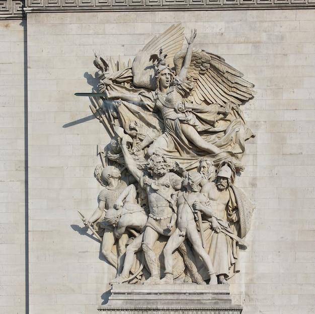 Der bogen des sieges in paris, frankreich