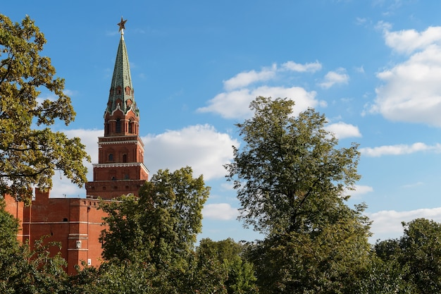 Der borovitskaya-turm, kreml, moskau, russland