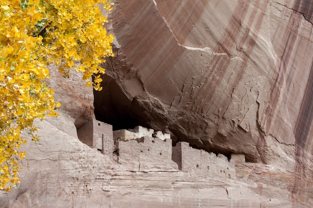 Der canyon des weißen hauses von chelly