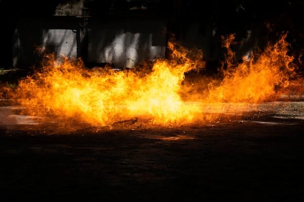 Der druck des brennbaren lpg-gastanks soll flach auf dem boden liegen.