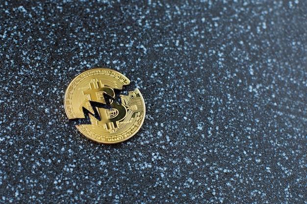 Der fall und zusammenbruch des verlaufs des hintergrunds der krypto-währungen