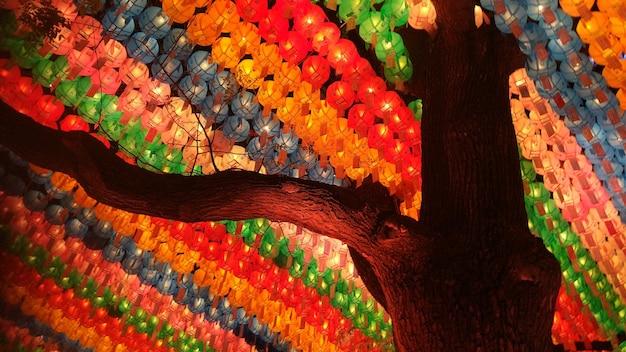 Der feiertag der papierlaternen seoul korea buddhas geburtstag