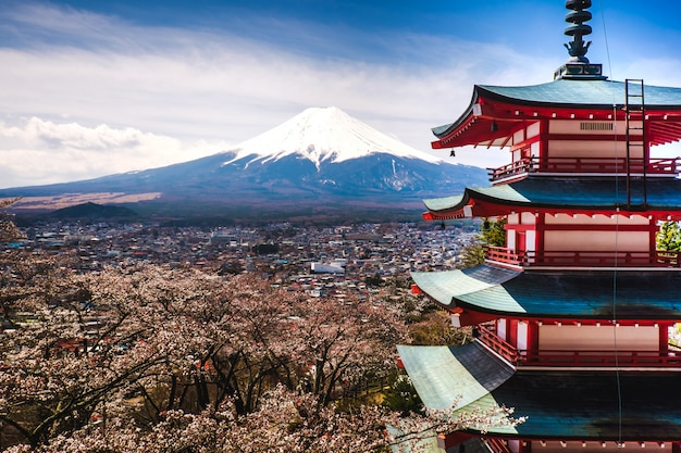 Der fujisan in japan