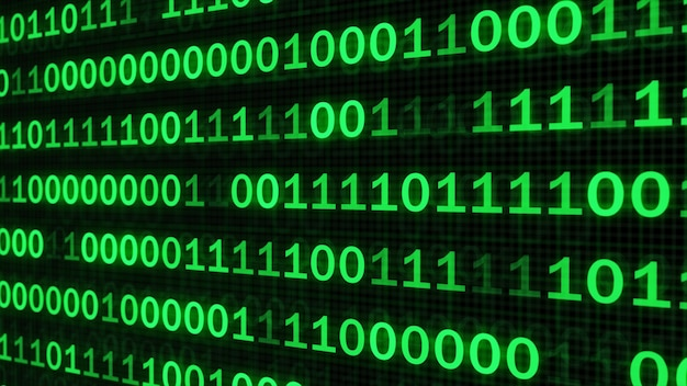 Der grüne code machte das programmieren zu einem dunklen hintergrund